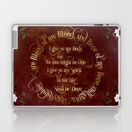 Outlander Wedding Vows Laptop & iPad Skin