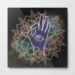 Gyan Mudra Hand Posture Metal Print