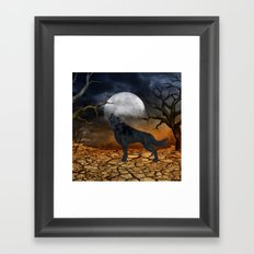 The lonely wolf Framed Art Print