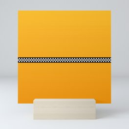 NY Taxi Cab Yellow with Black and White Check Band Mini Art Print