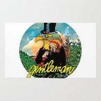 gentleman Area & Throw Rugs featuring Gentleman by dogooder