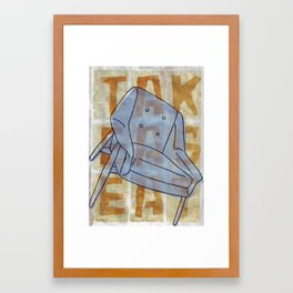 Come On In...Take A Blue Seat Framed Art Print