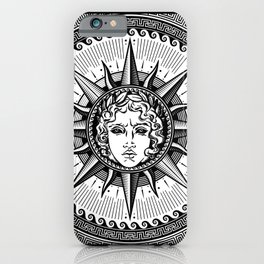 Apollo Sun God Symbol on Greek Key Ornament iPhone Case