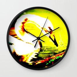 Abstract Swan Wall Clock