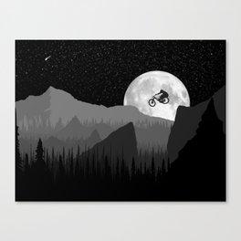 MTB Moon Canvas Print
