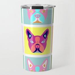 Boston Terrier Pop Art Travel Mug