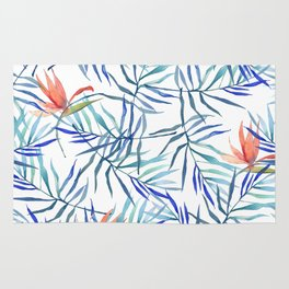 watercolor botanical pattern Rug