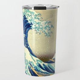 The Great Wave Off Kanagawa Katsushika Hokusai Travel Mug