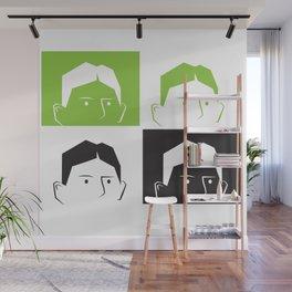 Kafka Faces Wall Mural