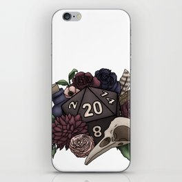Necromancer D20 Tabletop RPG Gaming Dice iPhone Skin