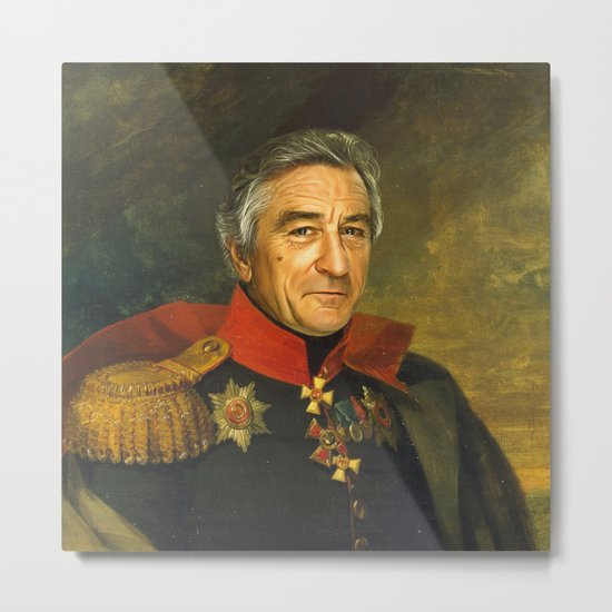 Robert De Niro - replaceface Metal Print