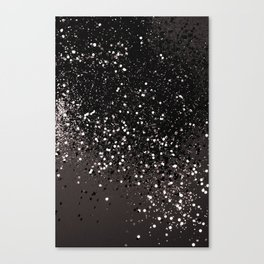 Blush Gray Black Lady Glitter #2 #shiny #decor #art #society6 Canvas Print
