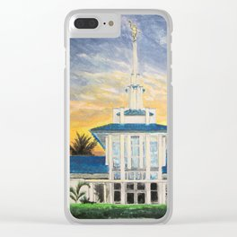 Papeete Tahiti LDS Temple Clear iPhone Case