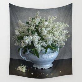 White privet Wall Tapestry