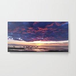 Textured Clouds at Sunset Metal Print