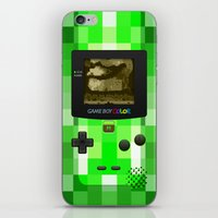 warcraft iPhone & iPod Skins featuring Gameboy Color Green Creeper by Veylow