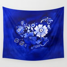 Delft Floral Wall Tapestry