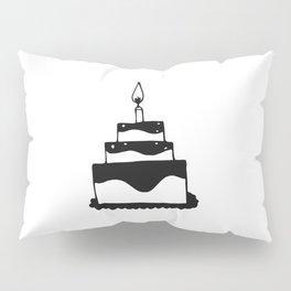 Monochrome birthday cake Pillow Sham