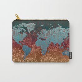 world map mandala vintage Carry-All Pouch