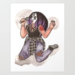 Heavy Metal Witch Art Print