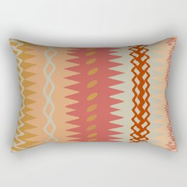 Assorted Zigzags And Waves Sienna Peach Grey Rectangular Pillow