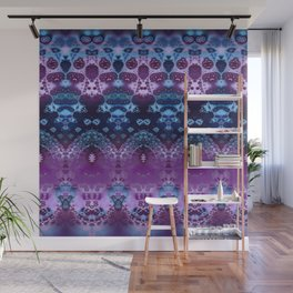 Hippy Blue and Lavender Wall Mural