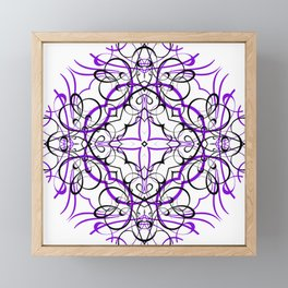 VIOLET SACRED GEOMETRY Framed Mini Art Print