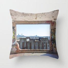 Abandoned Stockyard Throw Pillow