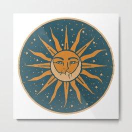 Sun, Moon & Stars Metal Print