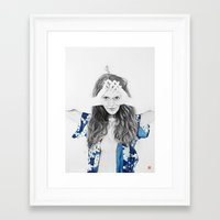 dragonfly Framed Art Prints featuring DRAGONFLY by lantomo
