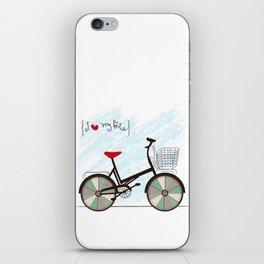 I {❤} My Bike iPhone Skin