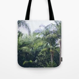 Palm Trees in a Tropical Garden Tote Bag