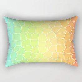Rainbow Crackle Texture Abstract Art | Easter | Spring Rectangular Pillow
