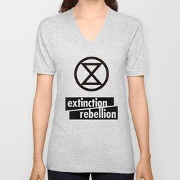 Extinction Rebellion Unisex V-Neck