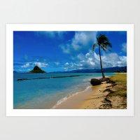 hawaiian Art Prints featuring Hawaiian Dreams by Upperleft Studios
