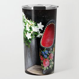 Clogs and te flowers Travel Mug