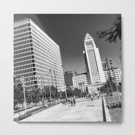 L.A. City Hall Metal Print