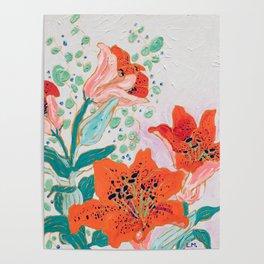Orange Lily Poster
