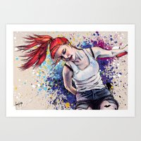 hayley williams Art Prints featuring Hayley Williams Energy Explosion by Adora Chloe