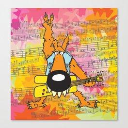 Rocker Wolf  Canvas Print