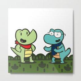 Meet Croc & Gator Metal Print