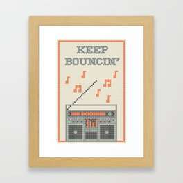 Keep Bouncin' Framed Art Print