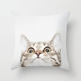 Kitten Portrait #painting Throw Pillow