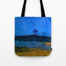Volcano under the Blue Sky Tote Bag