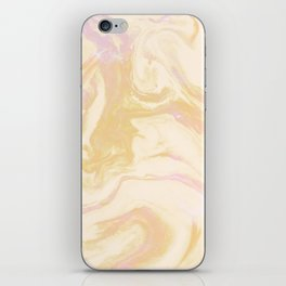 Gold Pink Marble iPhone Skin