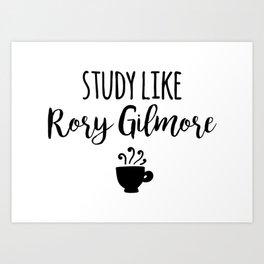 Gilmore Girls - Study like Rory Gilmore Art Print