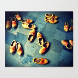 woooden slippers in Holland Canvas Print