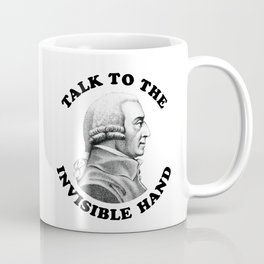 Adam Smith - Talk To The Invisible Hand - Funny Economics Teacher Coffee Mug