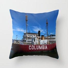 Fireship Columbia Throw Pillow