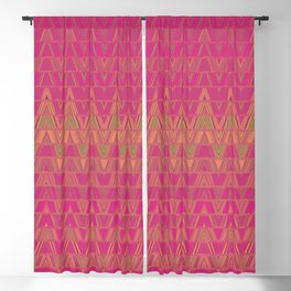 Aztec pattern in burgundy Blackout Curtain